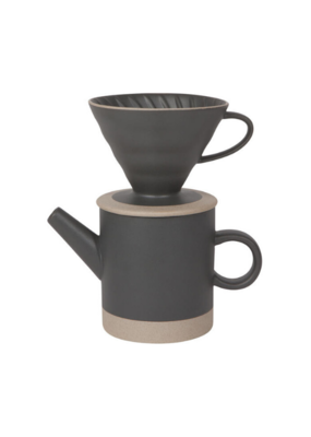 Contour Pour Over Coffee Set Black