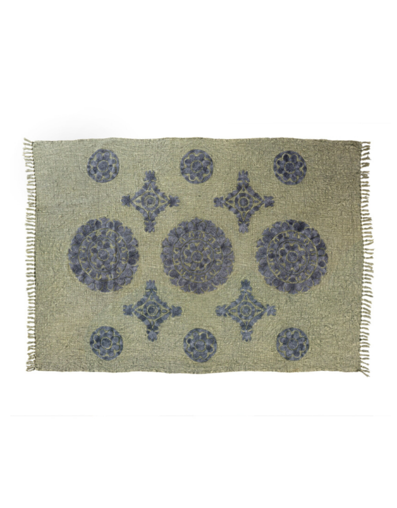 Mandala Tuft Throw in Olive