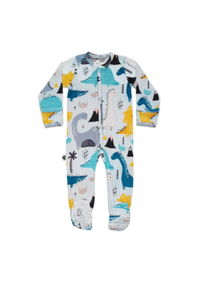 Inchworm Alley Longleeve Dinosaurs Footies 9-12m