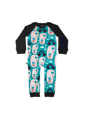 Inchworm Alley Longsleeve Romper Rabbits