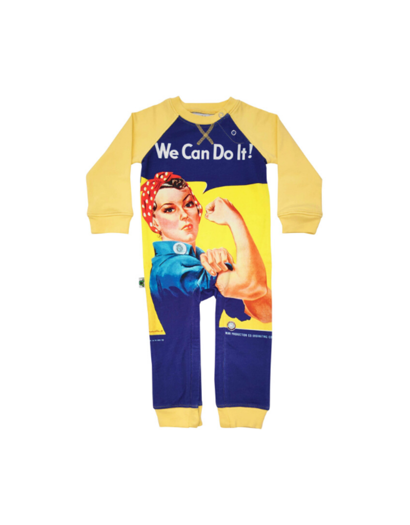 Inchworm Alley Longleeve  Romper We Can Do It!