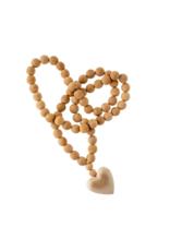 Indaba Trading Large Wooden Heart Prayer Beads