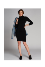 C'est Moi Clothing C'est Moi Bamboo One Size Turtleneck Dress Black