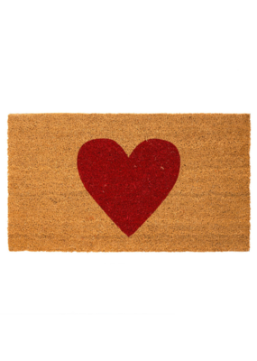 Indaba Red Heart Doormat