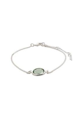 PILGRIM Pilgrim Bracelet Air Silver Green Stone