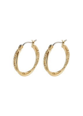 PILGRIM Pilgrim Hoop Air Earrings Gold