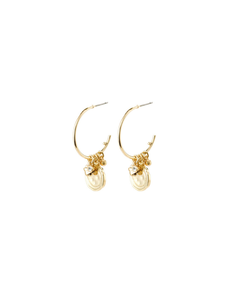 PILGRIM Pilgrim Air Earrings Crystal Gold