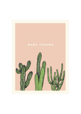 The Good Days Print Co. Coral Cactus Thank You Card
