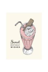 The Good Days Print Co. Milkshake Birthday Card