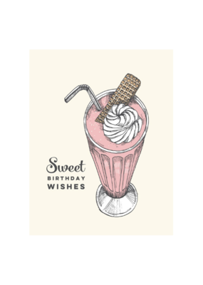 The Good Days Print Co. Milkshake Birthday Card