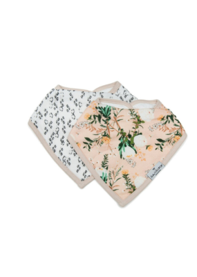 LouLou Lollipop Loulou LOLLIPOP Bandana Bib Set Blushing Protea