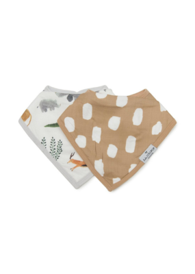 LouLou Lollipop Loulou Lollipop Bandana Bib Set, Safari