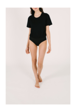 Smash + Tess T-Shirt Bodysuit in Black by Smash + Tess