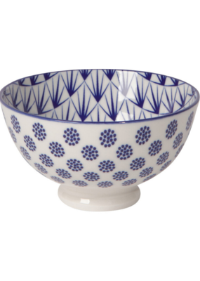 Stamped Blue Dots Bowl 4""