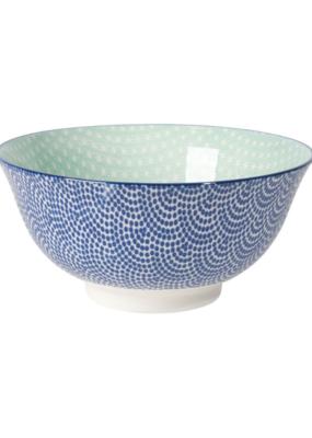 "Stamped Blue Waves Aqua Bowl 6"""