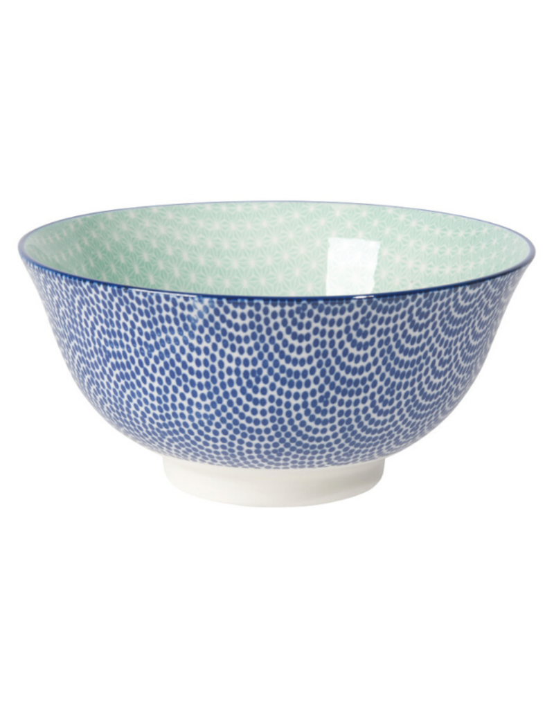 "Danica Stamped Blue Waves Aqua Bowl 6"""