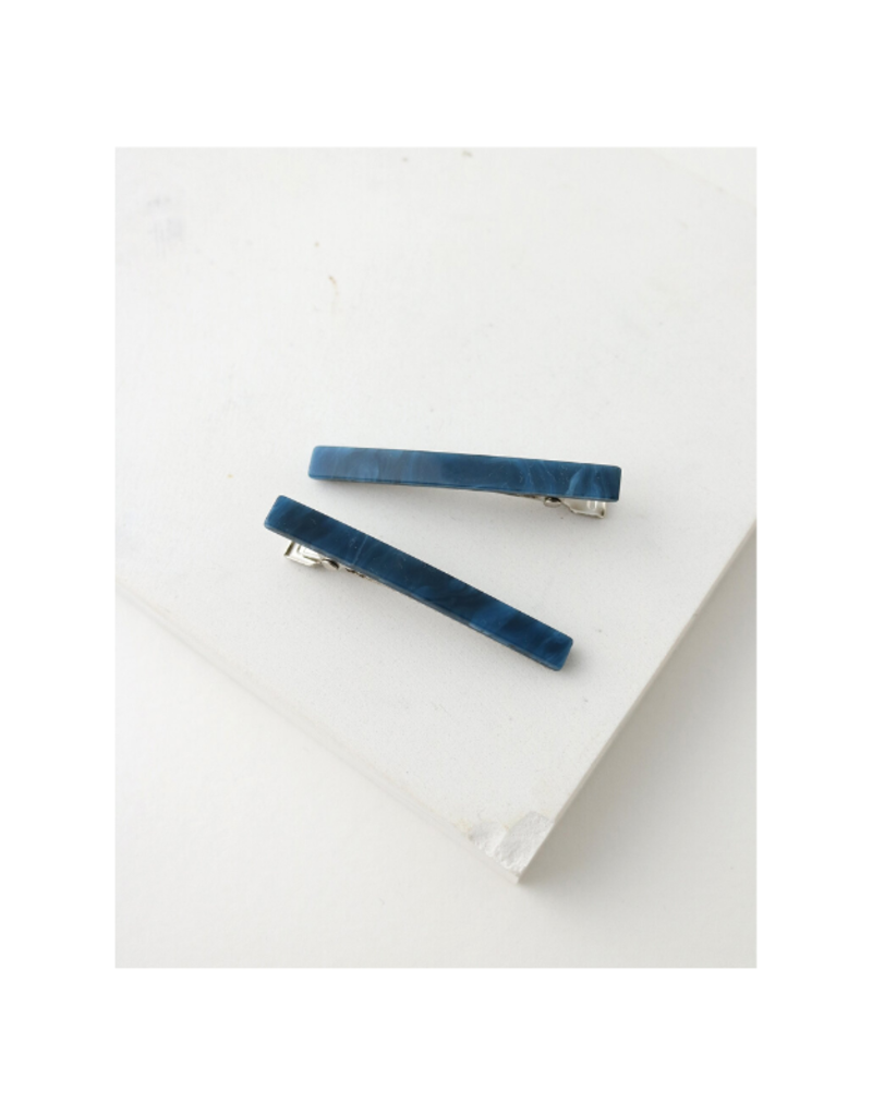 Lover's Tempo Florence Hair Clip 2-Pack in Navy by Lover's Tempo