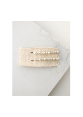 Lover's Tempo Blair Hair Bobby Pin 2-Pack in Pearl by Lover's Tempo