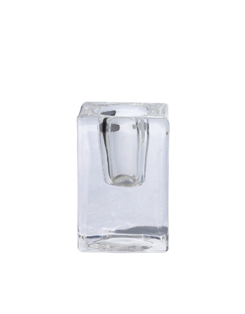 ocd Glass Quadra Candleholder Clear