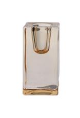 Glass Quadra Candleholder Bronze