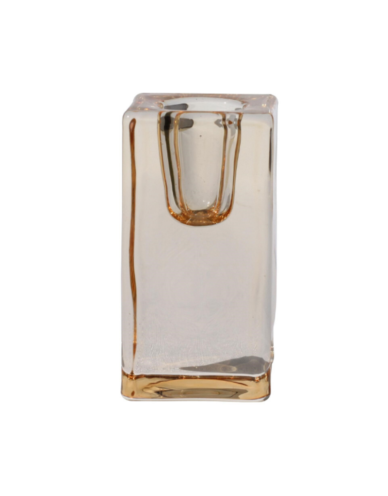ocd Glass Quadra Candleholder Bronze