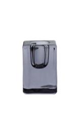 Glass Quadra Candleholder Black