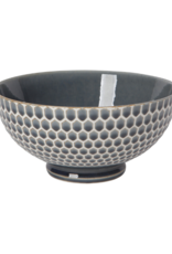 "Embossed Honey Serving Bowl 8"" Blue"