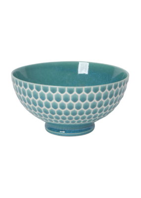 "Embossed Honey Cereal Bowl 6"" Teal"