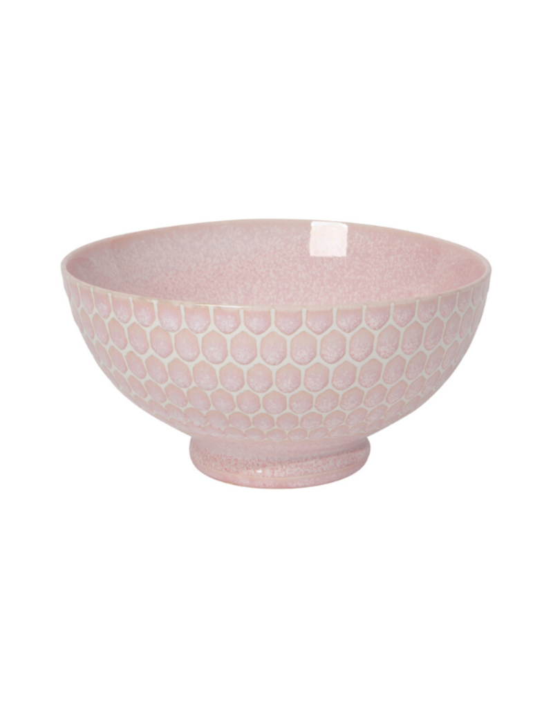 "Embossed Honey Cereal Bowl 6"" Pink"