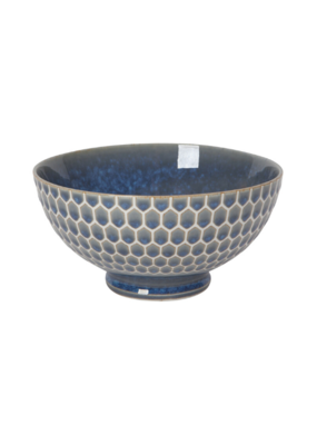 "Embossed Honey Cereal Bowl 6"" Blue"
