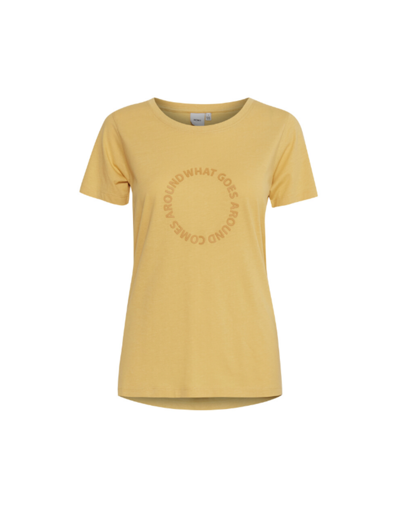 ICHI Regina Tee in Buff Yellow by ICHI