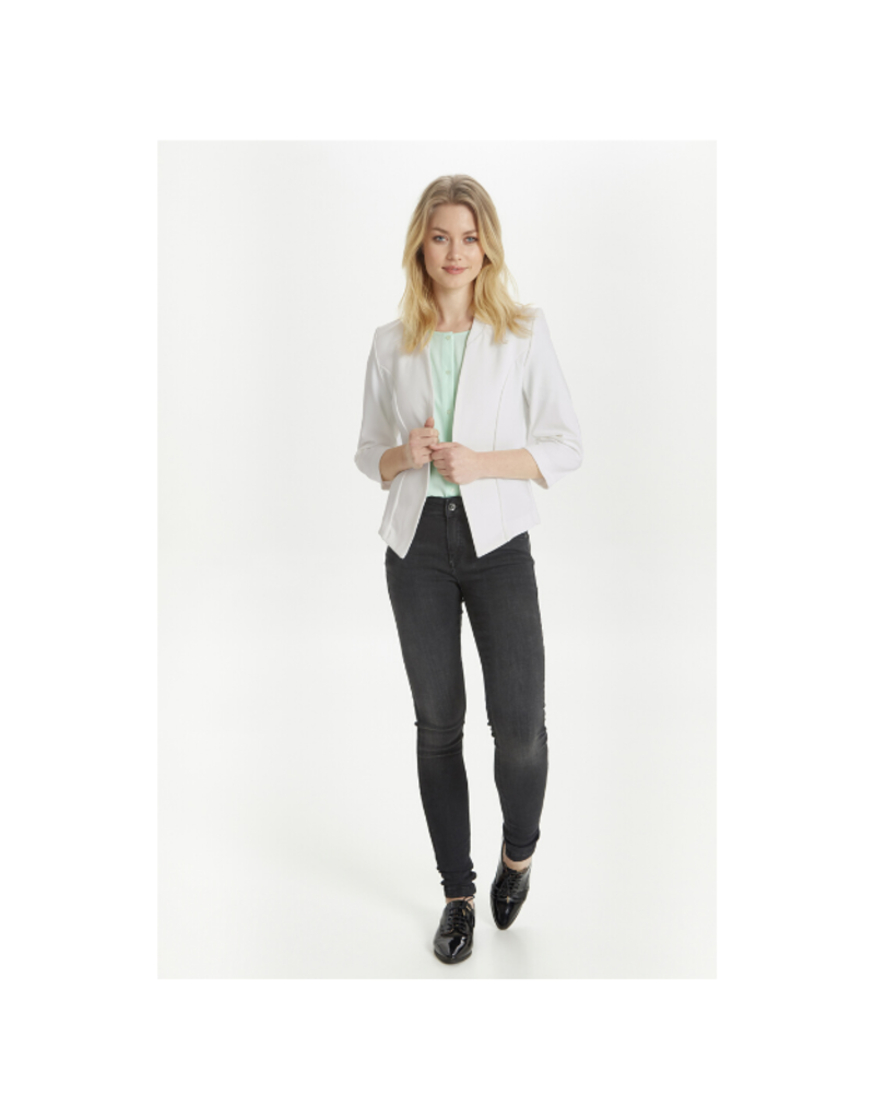 b.young Rizetta Short Blazer in Off White by b.young
