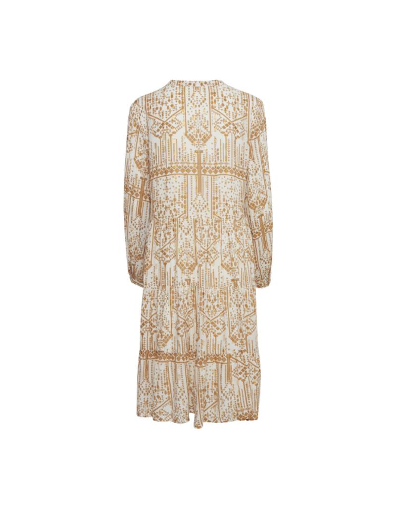 b.young Ikara Woven Dress in Off White by ICHI