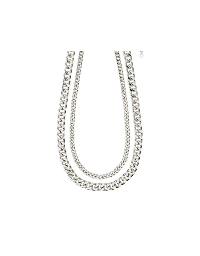 PILGRIM Pilgrim Water Necklace Silver