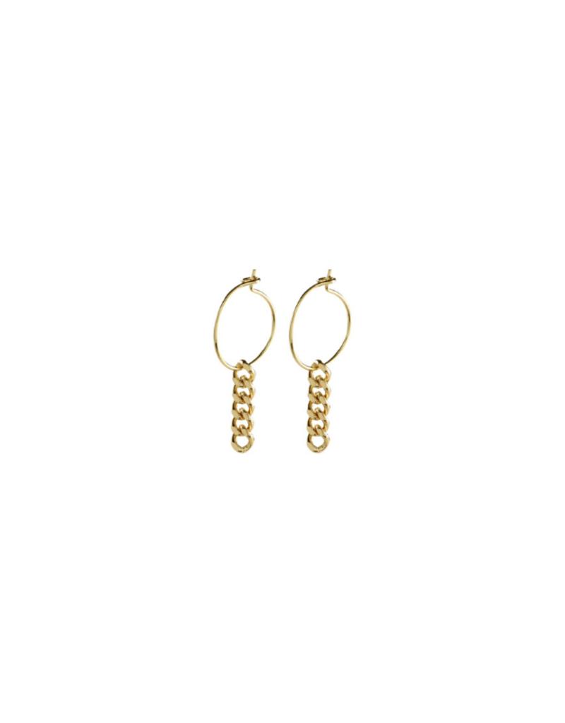 PILGRIM Pilgrim Water Earrings Gold