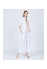 pistache Pistache Linen Open Blazer White