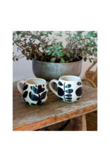Indaba Trading Bold Blooms Mug with Vertical Leaves