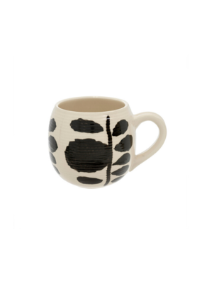 Bold Blooms Mug with Horizontal Leaves