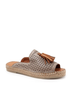 Bueno Navar Tassel Sandal in Grey Leather with Coconut by bueno
