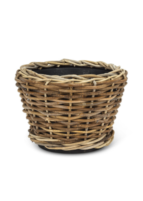 Wicker Resin Round Planter Medium
