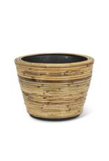 Striped Rattan and Resin Planter Medium