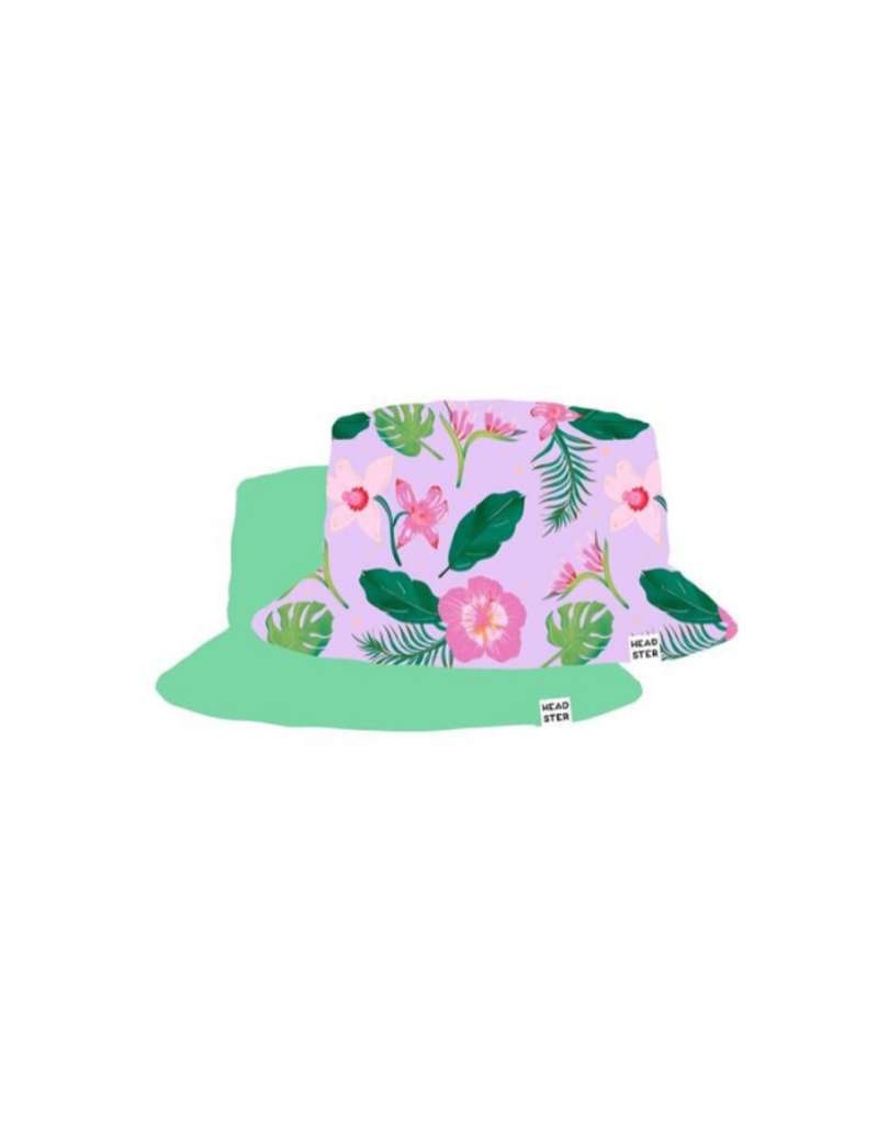 HEADSTER Wild Pink Hibiscus Bucket Hat by Headster