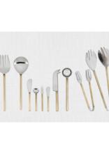 Gold Rib Handle Olive Spoon