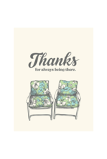 The Good Days Print Co. Thank You for Being There Card