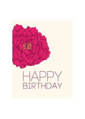 The Good Days Print Co. Peony Birthday Card