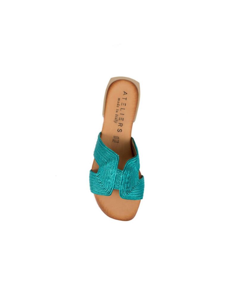 ateliers ATELIERS Fantine Slide in Turquoise