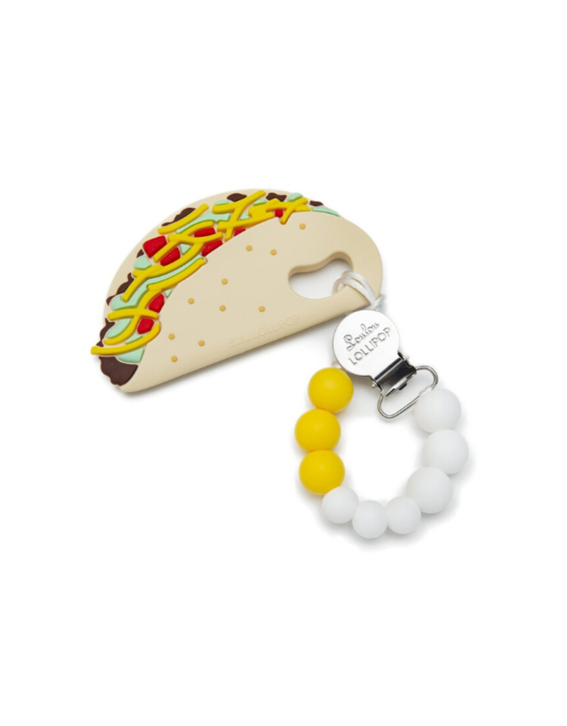 LouLou Lollipop LouLou Lollipop Teether with Holder Set in Taco