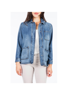 Kut from the Kloth Llysa Jacket with Patch Pockets in Prioritize Wash by Kut from the Kloth