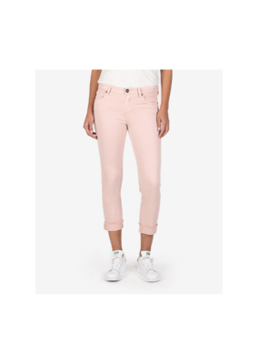 Kut from the Kloth Amy Crop Straight Leg Fray in Pink by Kut from the Kloth