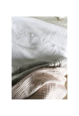 Crinkle Bed Cover Grey/Pink
